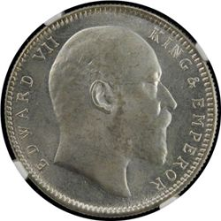 BRITISH INDIA: Edward VII, 1901-1910, AR rupee, 1906 (c)
