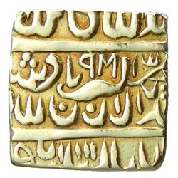 INDIA: Temple Token, 19th century, AV square   1/2 mohur ,  Ahmadabad ,  9M  (for 988)