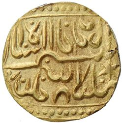 INDIA: Temple Token, 19th-20th century, AV   1/2 mohur  (6.28g), NM, ND