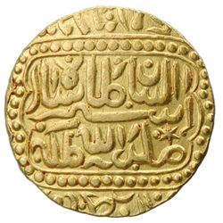 INDIA: Temple Token, 18th-19th century, AV  mohur  (11.52g), NM, ND