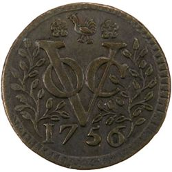 NETHERLANDS EAST INDIES: AE duit (2.84g), [West Friesland], 1756