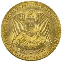 SYRIA: AV sovereign (6.75g), 1950//AH1369