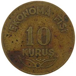 TURKEY: 10 kurus token, 1941