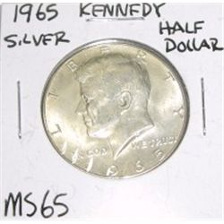 1965 Kennedy SILVER Half Dollar *MS-65 HIGH GRADE - NICE COIN*!!
