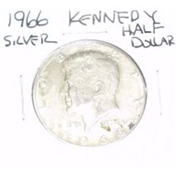 1966 Kennedy SILVER Half Dollar *PLEASE LOOK AT PICTURE TO DETERMINE GRADE - NICE COIN*!!