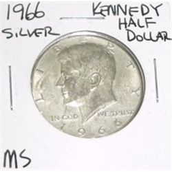 1966 Kennedy SILVER Half Dollar *MS HIGH GRADE - NICE COIN*!!