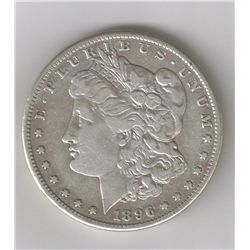 SEMI KEY DATE 1896-S  MORGAN SILVER DOLLAR, XF