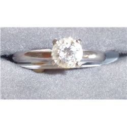 .65 Carat Solitaire Diamond Ladies Ring, High Grade, Good Color, 14K White Gold