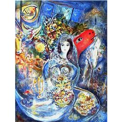 "Chagall ""Bella"" Ltd Edition Lithograph With COA, 33""x23"""