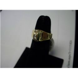 Art Deco Diamond Ring, 13 Diamonds, 10.2 Grams 14K Gold