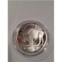 .999 PURE SILVER BUFFALO 1 OZ