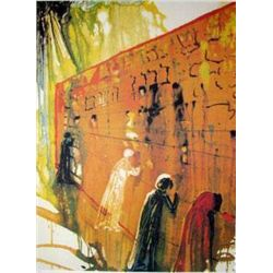 "Salvadore Dali ""Wailing Wall"" Lithograph, Ltd. Edition Plate Signed & Numbered, 33""x23"""
