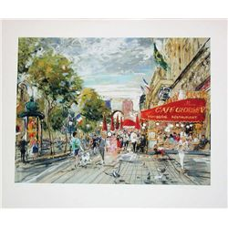 Kamil Kubik, Champs Elysee, Signed Print