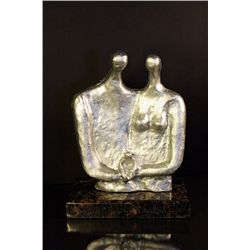 Family - Real Silver Sculpture by Henry Moore