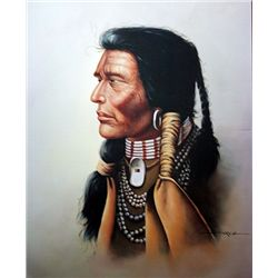 Lithograph  Indian  by artist Garcia