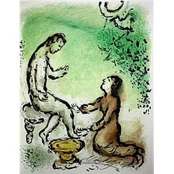 Ulysses and Euryclea by Chagall from the Odyssey Suite.