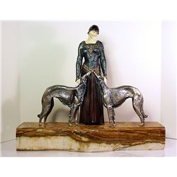 Friends Forever - Bronze and Ivory Sculpture by Chiparus