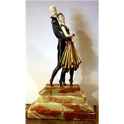 Tango - Bronze and Ivory Sculpture by Chiparus