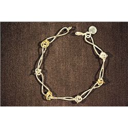 Lady's Beautiful Tiffany Sterling Silver Two tone Bracelet