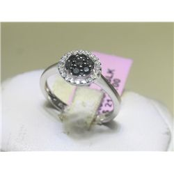 .12 CT Diamonds and .28 CT Black Diamonds Ring