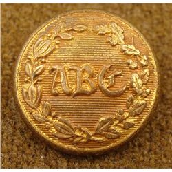 Albany Burgesses Corps ABC Civil War Military Button