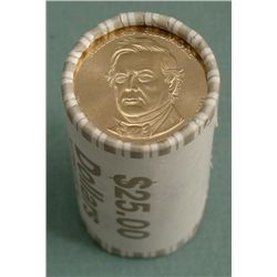 1 Bank Roll 2010-D Fillmore Presidential Dollars UNC