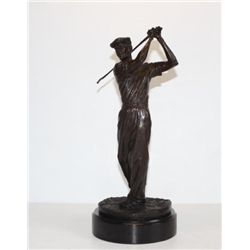 Splendid Ben Hogan Golfer Bronze Sculpture After Ron