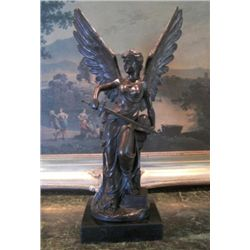 Splendid Bronze Sculpture Athena Greek Goddess