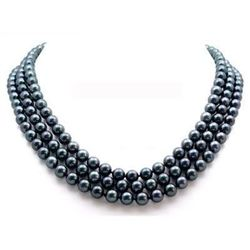AMAZING South Sea Black Pearl Necklace