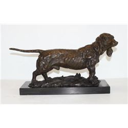 Handsome Dachshund Bronze Sculpture After Debvt