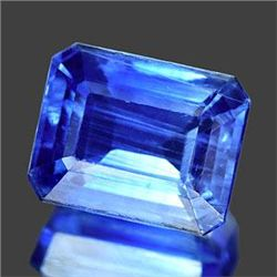 SPECTACULAR UNHEATED 5.20 Ct. Octagon Natural Royal Bl