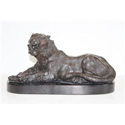 Magnificent Bronze Sculpture Siberian Bengal Tiger