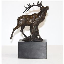 Proud Elk Bronze Sculpture After Milo