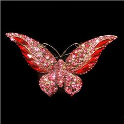 Retro Stylish Swarovski Crystal Butterfly Brooch