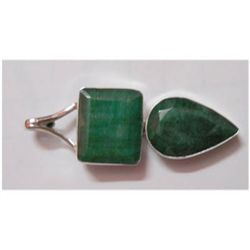 Natural 55.70 ctw Emerald Pendnat 925 Sterling