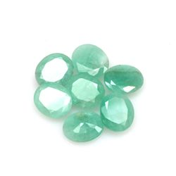 Natural 21.85ctw Emerald Oval (7) Stone