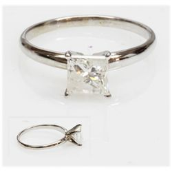 1.15 ctw Certified Diamond 14k Solitaire Ring J I-2
