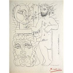 PABLO PICASSO, Suite Vollard, Sculpteur et Deux T&#234;tes sculpt&#233;es