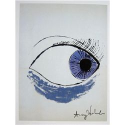 ANDY WARHOL, Signed Print, Eye