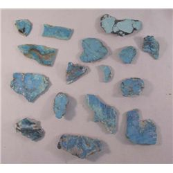 Collection of Natural Nevada Turquoise Stones