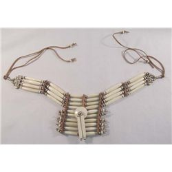Sioux Bonepipe Sterling Silver Necklace