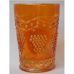 Fenton ''Grape & Lattice'' Tumbler, Marigold