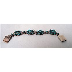 Zuni Silver Needlepoint Watch Bracelet - Owaleon