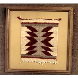Framed Navajo Sampler Weaving