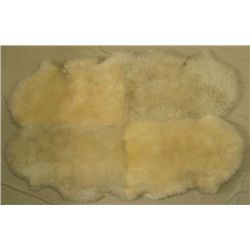 Bowron New Zealand Four-Pelt Lambskin Rug