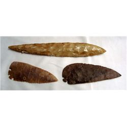 Collection of Large Stone Spear Points