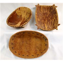 Chippewa Birch Bark Baskets