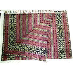 Indonesian Woven Table Cloth or Bed Cover