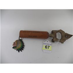 Vintage Big Chief Bottle Opener -- Ballard's Child's Meadow Resort