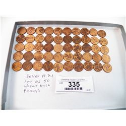 Lot of 50 Wheat Back Pennies